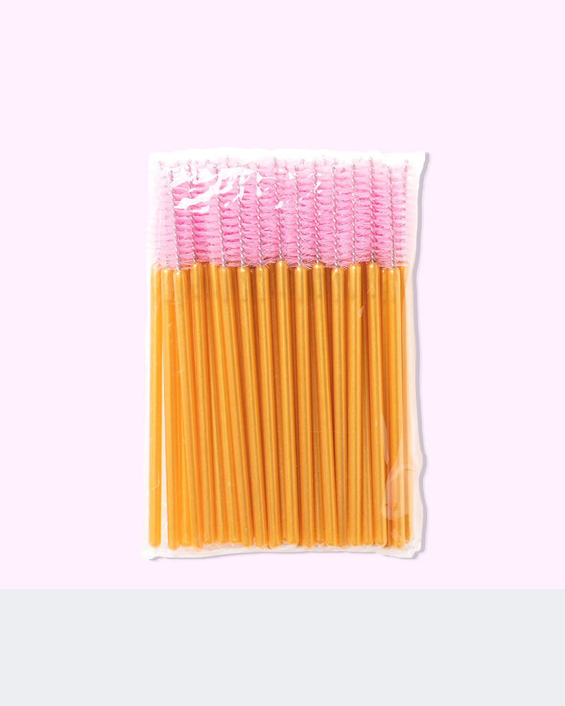 Lash Wands 50 Pack Yellow Pink By Fulfill Lashes