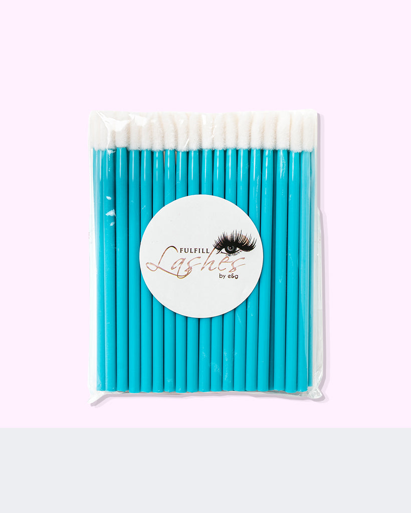 Lint Free Microfiber Lash Stylists Brush 50 Pack - Light Blue By Fulfill Lashes