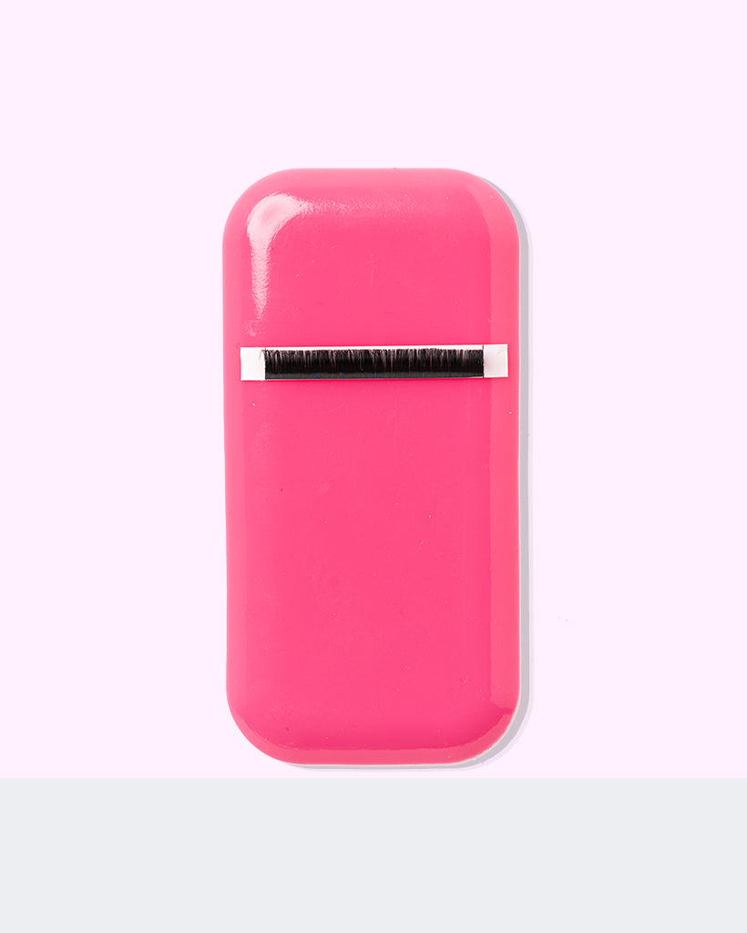 Rectangle Silicone Pad Hot Pink Lash Stylist Accessory By Fulfill Lashes