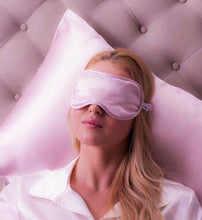 Load image into Gallery viewer, Blush Pink Satin Eye Mask- Customisable
