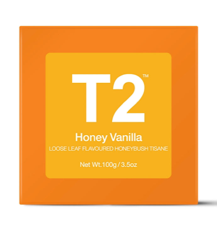 T2- Gift Cube Honey Vanilla Loose Leaf 100g
