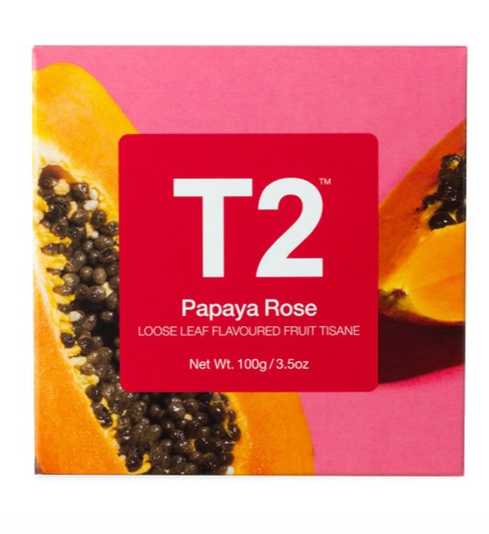 T2- Gift Cube Feature Papaya Rose Loose Leaf 100g