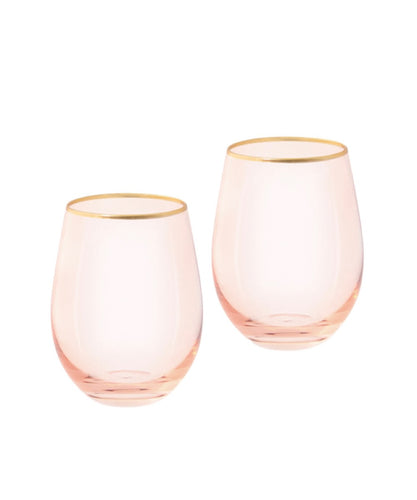Cristina Re Rose Crystal Tumbler Glasses set of 2