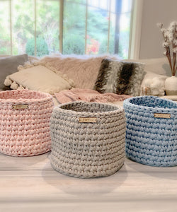 Jo's Handmade Treasures- Crocheted Basket