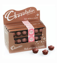 Load image into Gallery viewer, Chocolatier Pink Stripe Champagne Truffle 6pk 75g