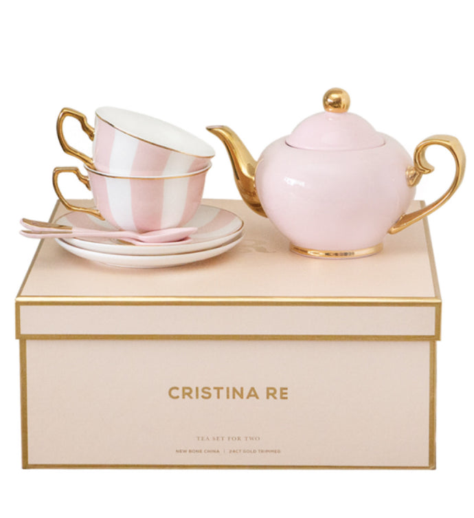 Cristina Re 2 Cup Tea Set- Blush