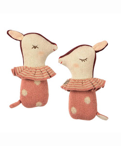 Maileg- Bambi Rattle Rose