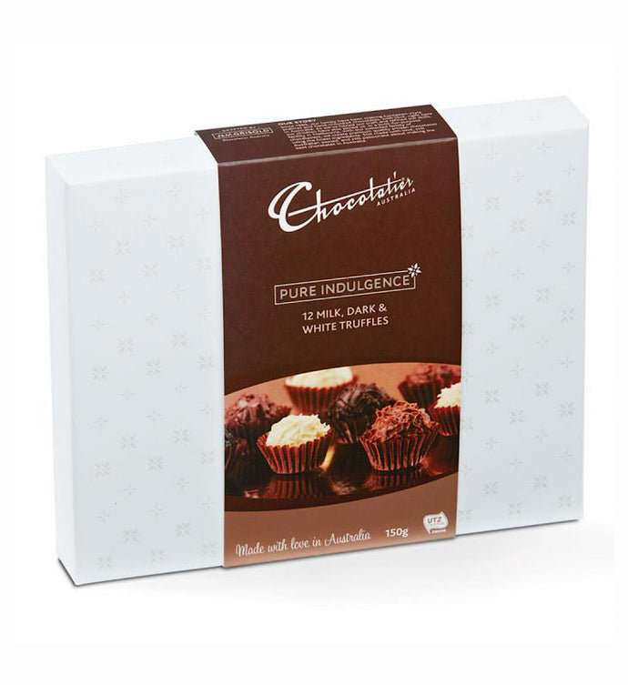 Chocolatier Pure Indulgence Truffles- Milk, Dark & White 150g
