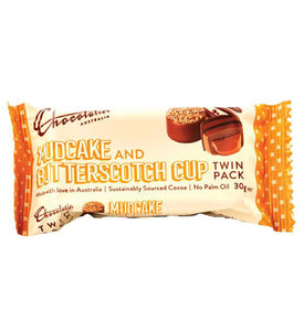 Chocolatier Mudcake & Butterscotch Cup Chocolate twin pack 30g