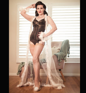 Miss Gypsy Rose Sheer Floor-length Robe