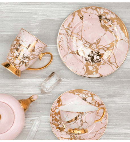 Cristina Re Side Plate Rose Quartz