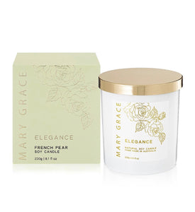 Mary Grace Elegance Soy Candle- French Pear 250g