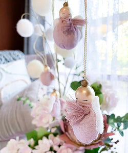 Valentina The Swan- Small Fairy Mobile Doll, Blush Pink