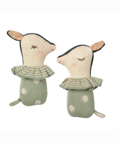 Maileg- Bambi Rattle Dusty Mint