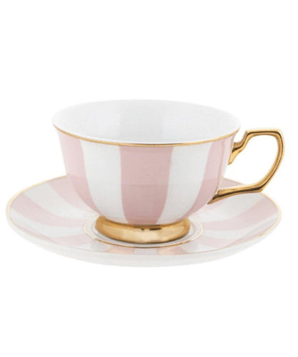 Cristina Re Teacup & Saucer- Stripes Blush