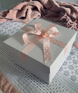 Precious gift boxes white petite custom delivered Melbourne Australia white with ribbon