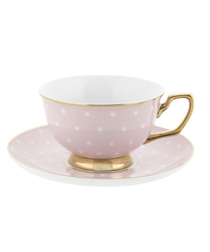 Cristina Re Tea Cup & Saucer- Polka Blush