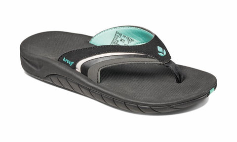 Reef Women GIRLS SLAP 3 BLACK/BLACK/AQU