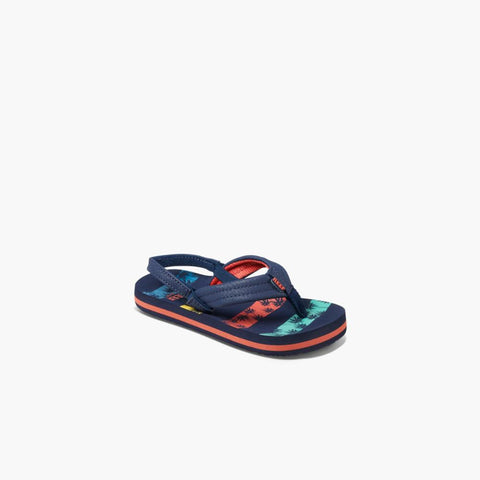 Reef Kids LITTLE AHI NVY PALMS STRIPE