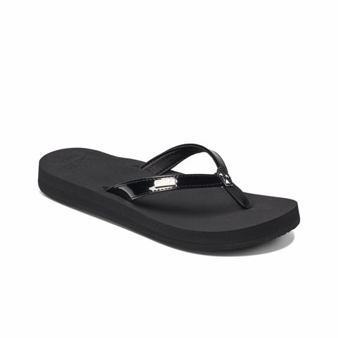 Reef Women REEF CUSHION LUNA BLACK PATENT