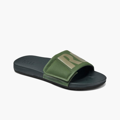 Reef Men CUSHION SLIDE OLIVE GREY LOGO