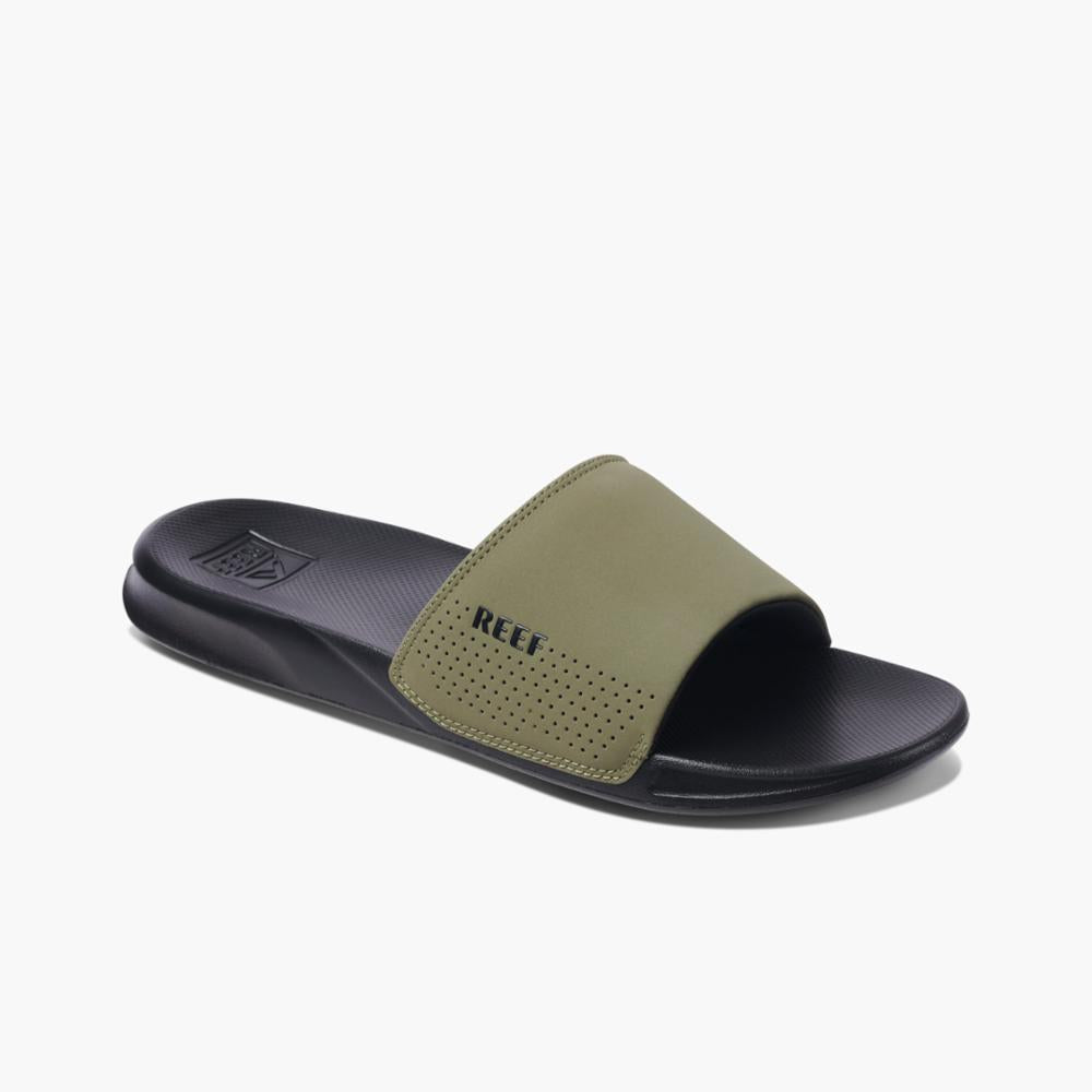 Reef Men REEF ONE SLIDE BLACK/OLIVE