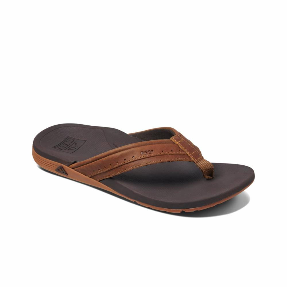 Reef Men LEATHER ORTHO-SPRING BROWN
