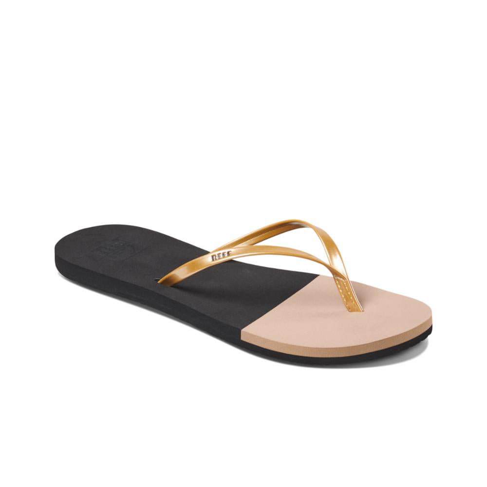 Reef Women BLISS TOE DIP BLACK/GOLD