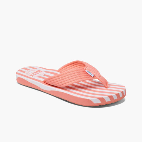 Reef Women ORIGINAL STRIPE CORAL/WHITE