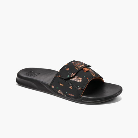 Reef Men REEF STASH SLIDE BLACK TIKI