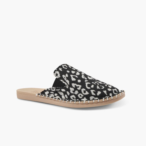 Reef Women REEF ESCAPE MULE TX BLACK/LEOPARD
