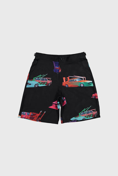 Speed Tribe Rayon Shorts - Black
