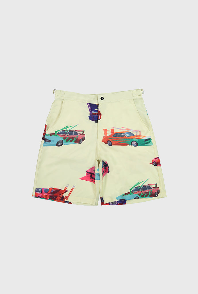 Speed Tribe Rayon Shorts - Cream