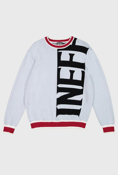 Knit Vertical Logo Sweater - Grey