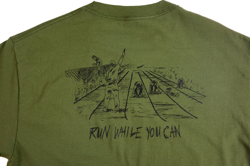 Run While You Can T-Shirt - Olive