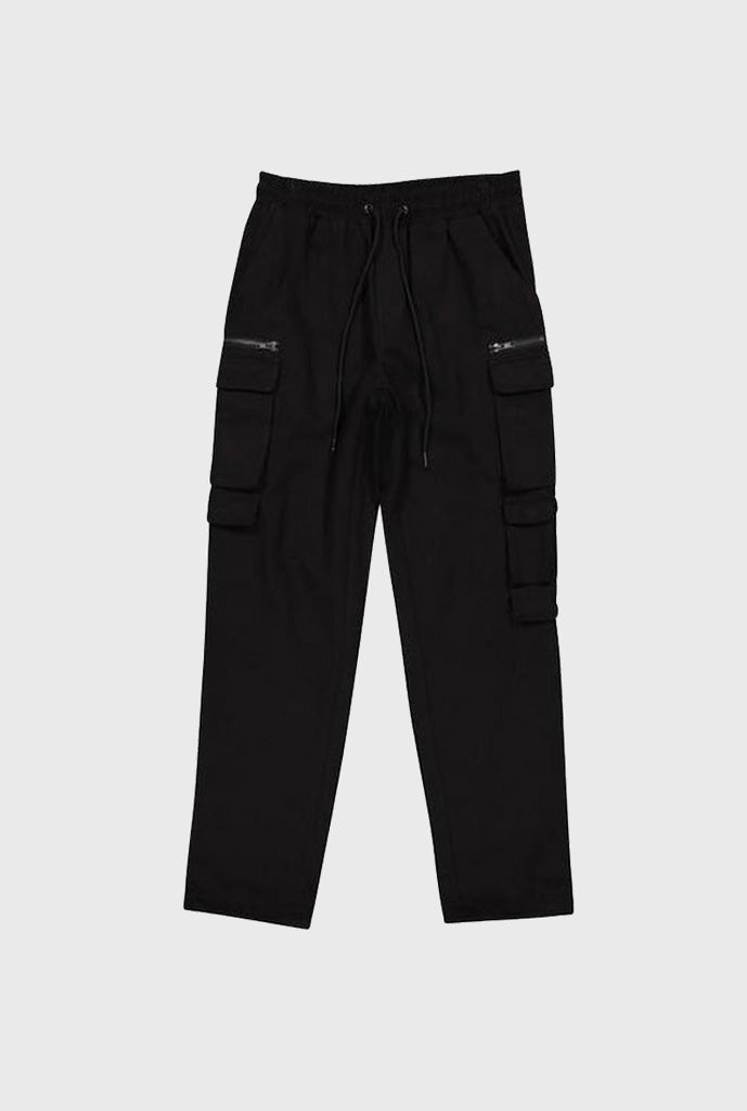Twill Bungee Cargo Pant - Black
