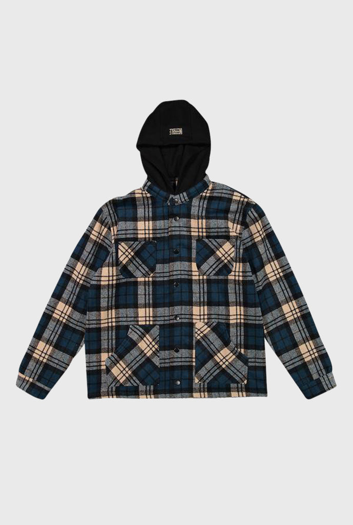 Hooded Flannel Jacket