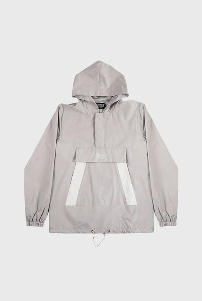 Ripstop Nylon Track Jacket - Grey