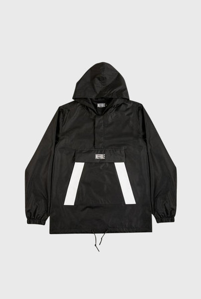 Ripstop Nylon Track Jacket - Black