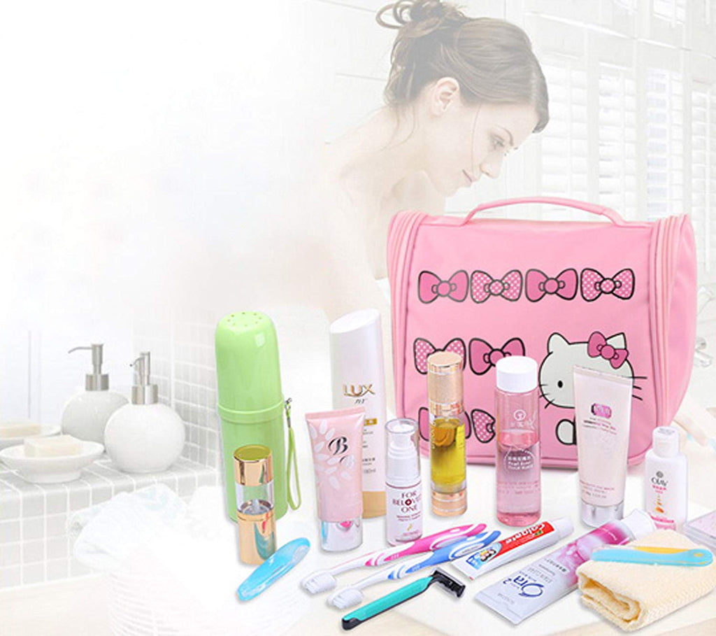 2881307e6d ... Hello Kitty Make up Organizer Bag with Hanging Hook Cosmetic ...