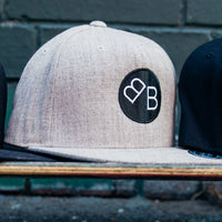 Backwards Brain Cap in grey.