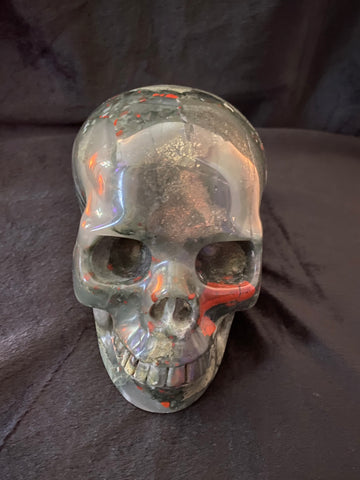 African Bloodstone Skull - Extra Large