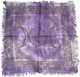 Altar Cloth - 18 X 18 Triple Moon