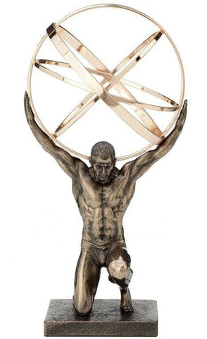 Atlas carrying the celestial spheres