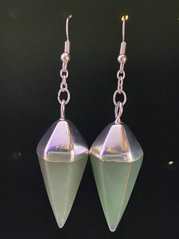 Aventurine Point Earrings