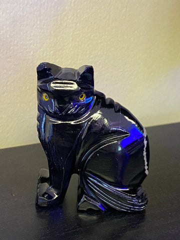 Black Calcite Cat