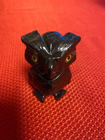 Black Calcite Owl