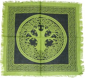 Altar Cloth - 18 X 18 Tree Of Life