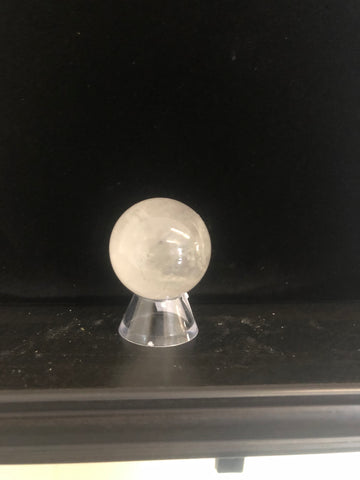 Clear Quartz Sphere with Stand