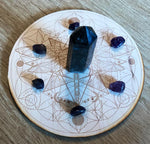 Dragonfly Flower of Life Crystal Grid